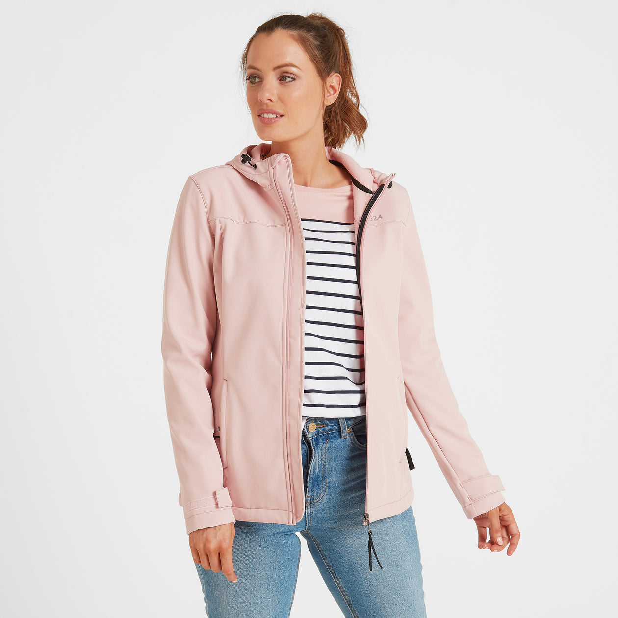 Keld Womens Softshell Hooded Jacket - Rose Pink image 4