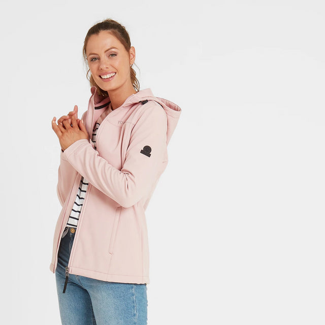 Keld Womens Softshell Hooded Jacket - Rose Pink image 1