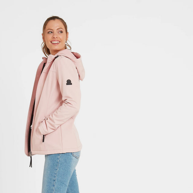 Keld Womens Softshell Hooded Jacket - Rose Pink image 2