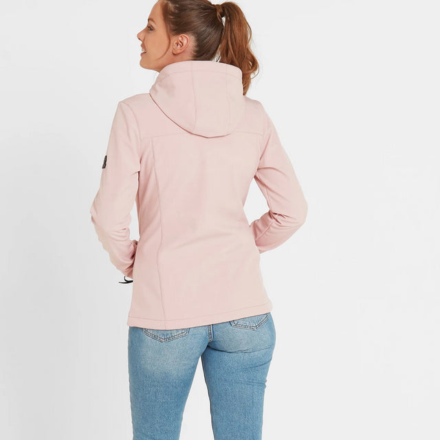 Keld Womens Softshell Hooded Jacket - Rose Pink image 3