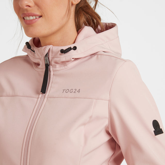 Keld Womens Softshell Hooded Jacket - Rose Pink image 5