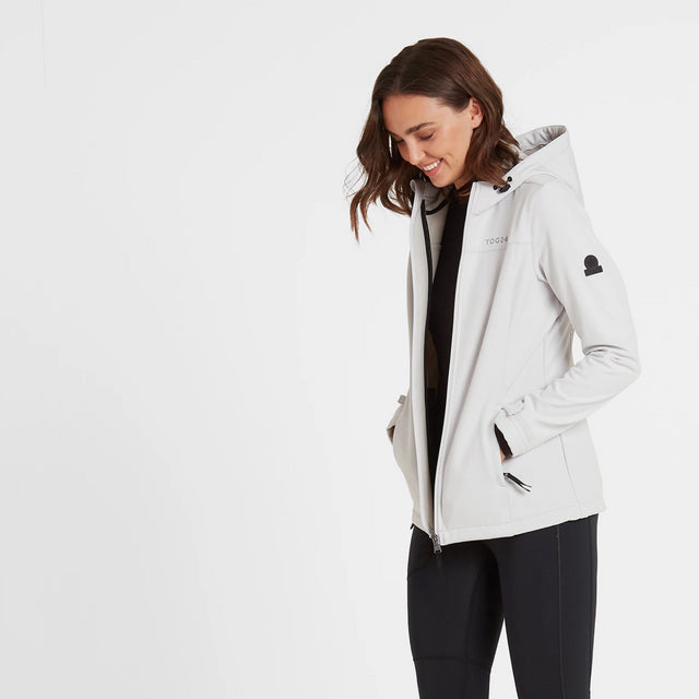 Keld Womens Softshell Hooded Jacket - Ice Grey image 1