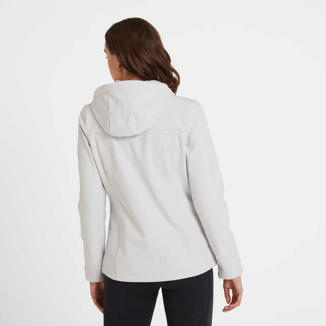 Keld Womens Softshell Hooded Jacket - Ice Grey image 3