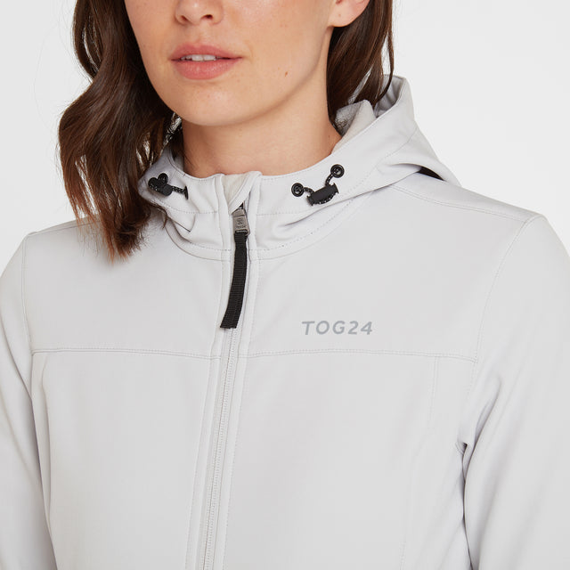 Keld Womens Softshell Hooded Jacket - Ice Grey image 5
