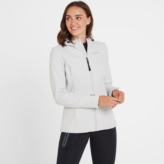 Keld Womens Softshell Hooded Jacket - Ice Grey image 2