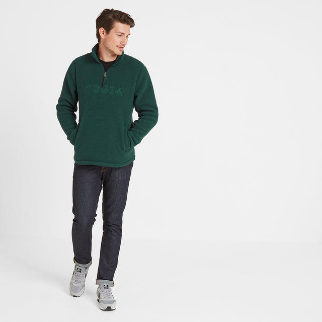 Kirkstall Mens Fleece Zip Neck - Forest image 3