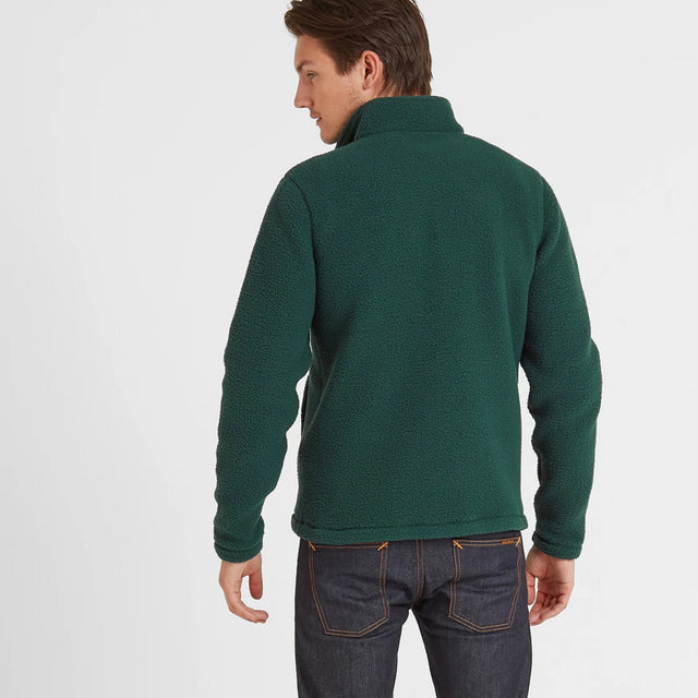 Kirkstall Mens Fleece Zip Neck - Forest image 2