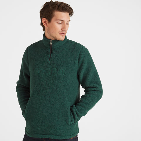 Kirkstall Mens Fleece Zip Neck - Forest