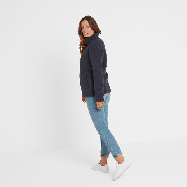 Kirkstall Womens Fleece Zip Neck - Dark Indigo image 2