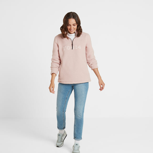 Kirkstall Womens Fleece Zip Neck - Rose Pink image 2