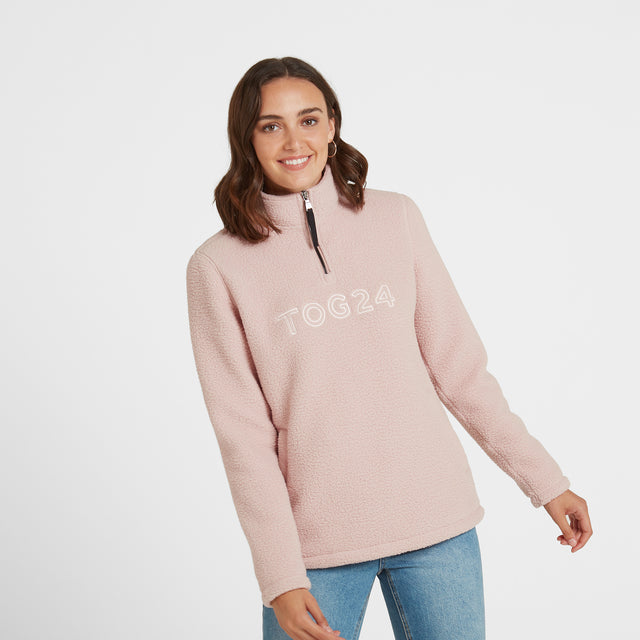 Kirkstall Womens Fleece Zip Neck - Rose Pink image 3