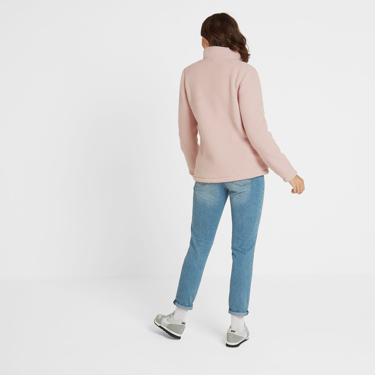Kirkstall Womens Fleece Zip Neck - Rose Pink image 4