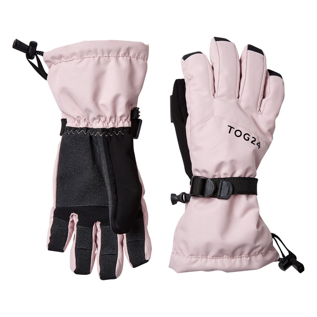 Lockton Waterproof Ski Gloves - Rose Pink