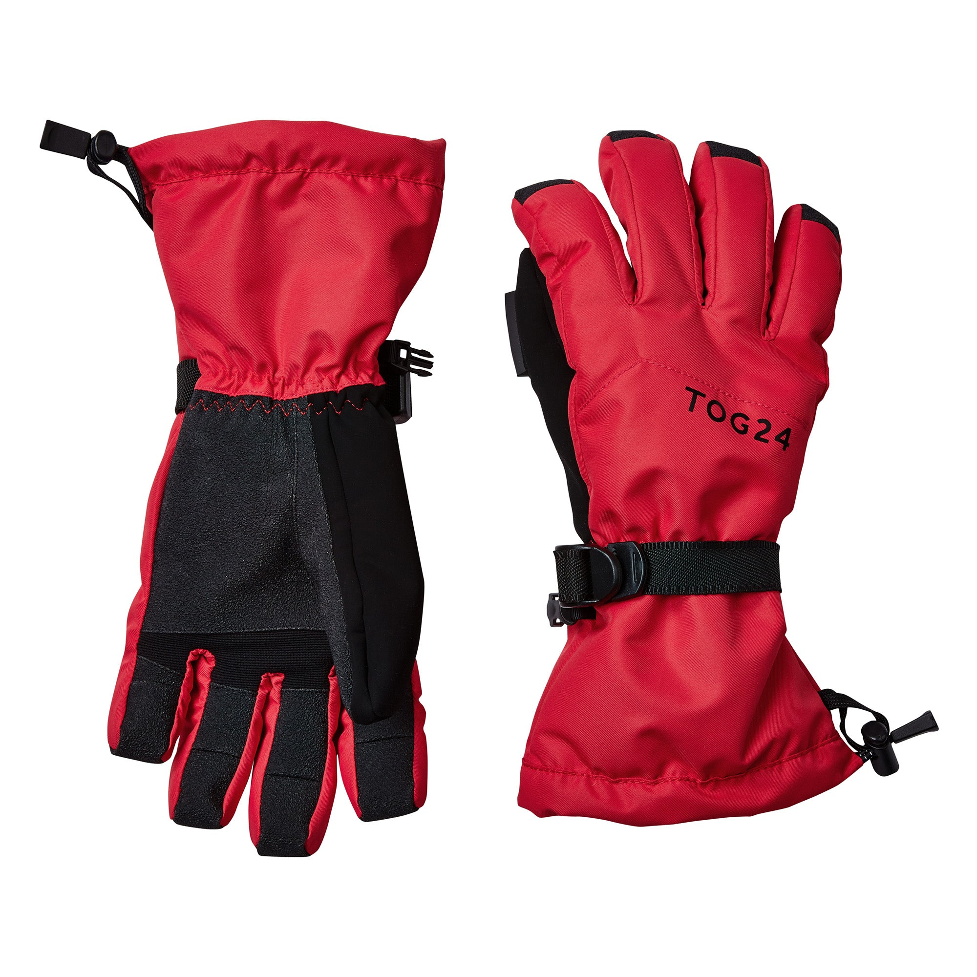 Lockton Waterproof Ski Gloves - Rouge Red