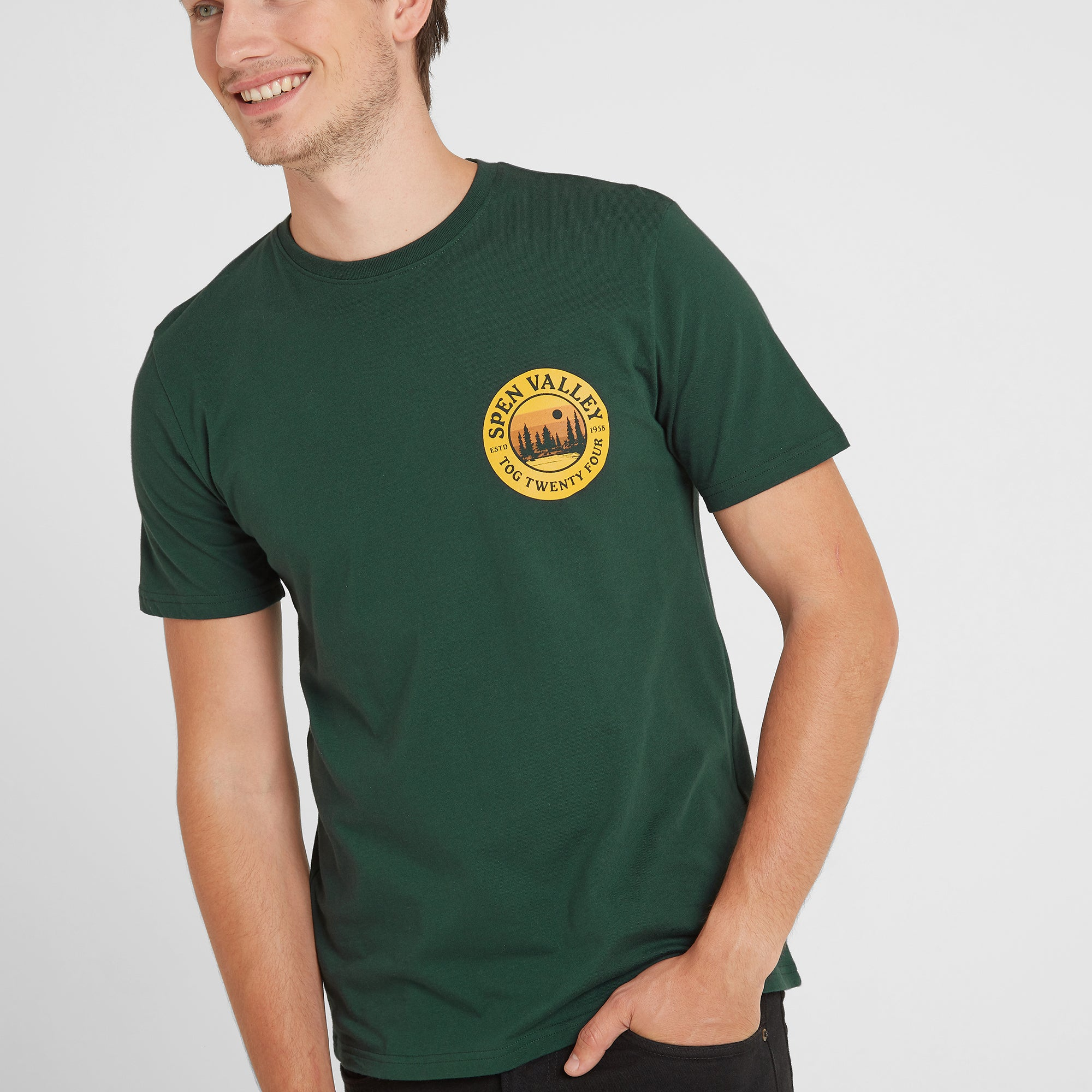 Malton Mens Graphic T-Shirt Spen - Forest