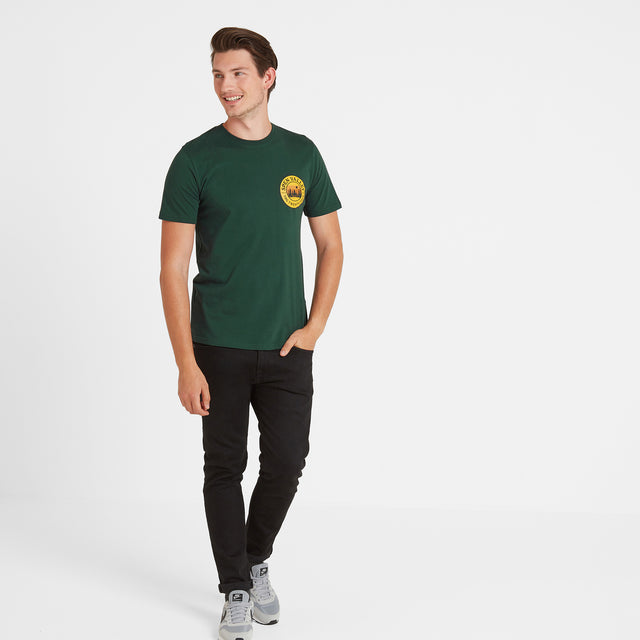 Malton Mens Graphic T-Shirt Spen - Forest image 2