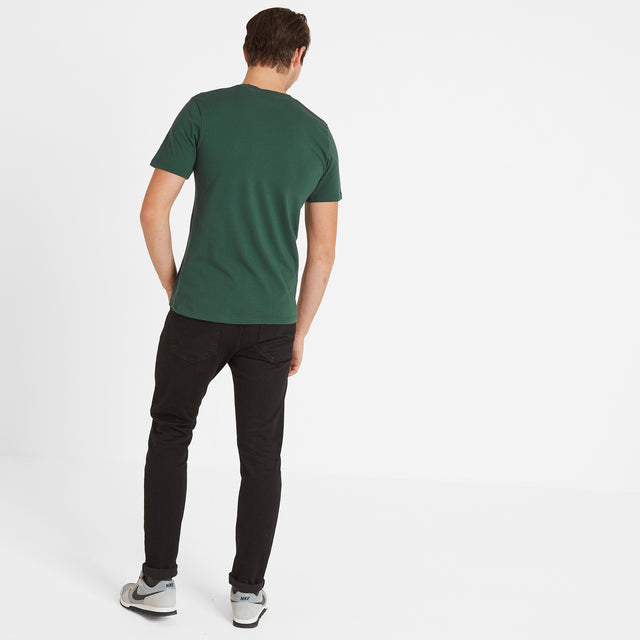 Malton Mens Graphic T-Shirt Spen - Forest image 3