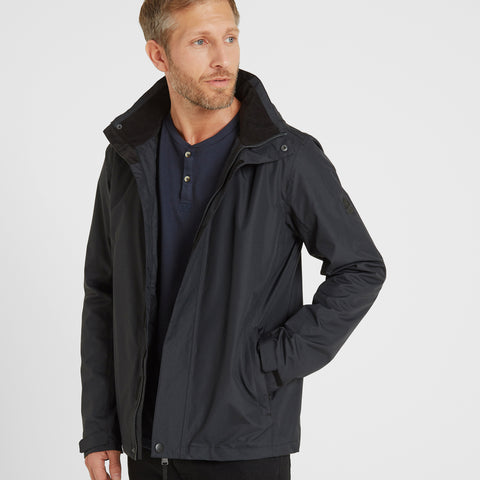 Mawson Mens Waterproof Jacket - Black