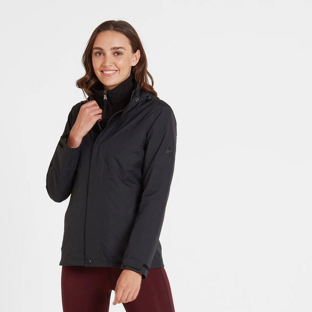 Mawson Womens Waterproof Jacket - Black image 2