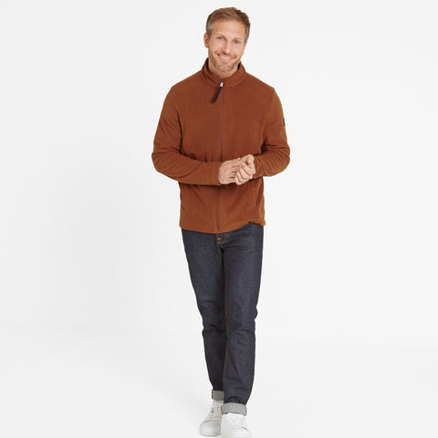 Shire Mens Fleece Jacket - Amber