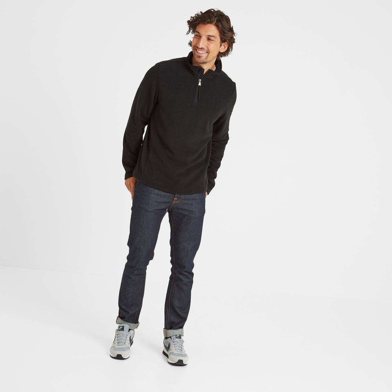 Shire Mens Fleece Zipneck - Black image 4
