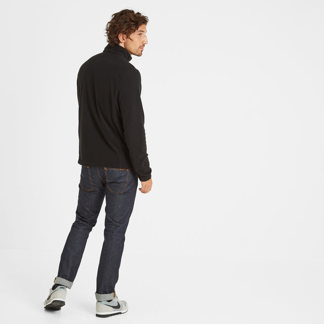 Shire Mens Fleece Zipneck - Black image 2
