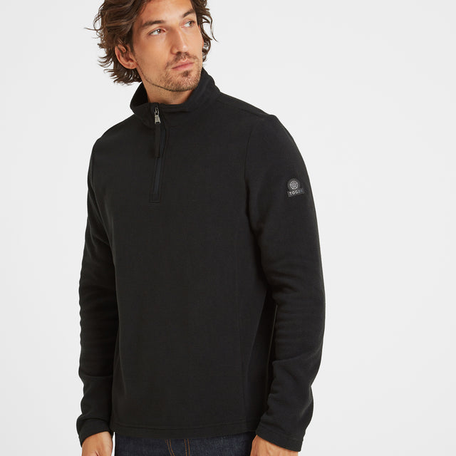 Shire Mens Fleece Zipneck - Black image 1