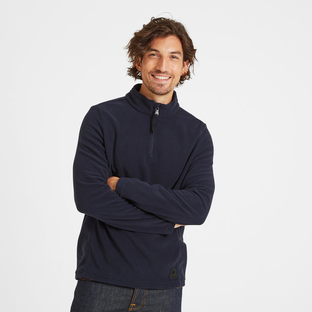 Treeton Mens Fleece Zipneck - Navy image 2