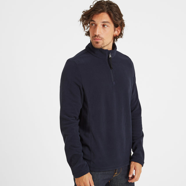 Treeton Mens Fleece Zipneck - Navy image 1
