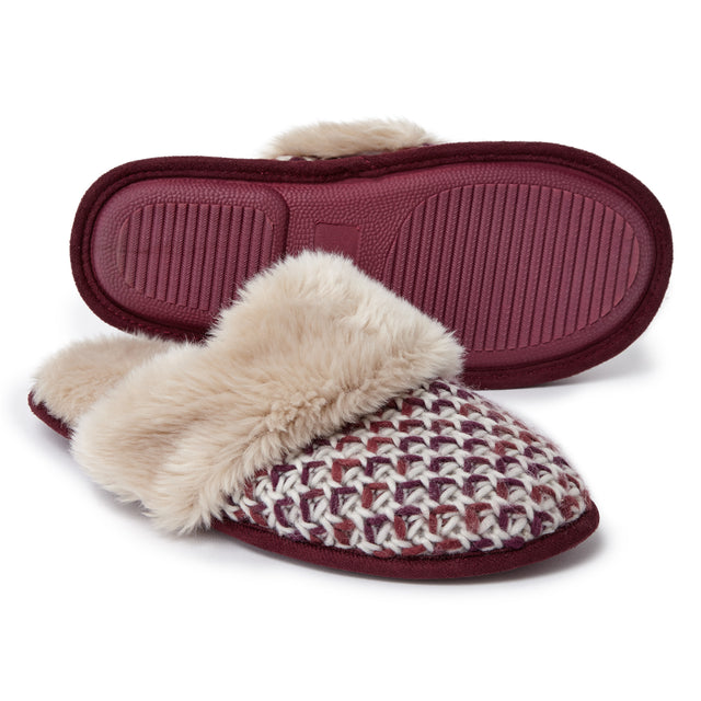 Tunnard Womens Knit Slipper - Deep Port image 1