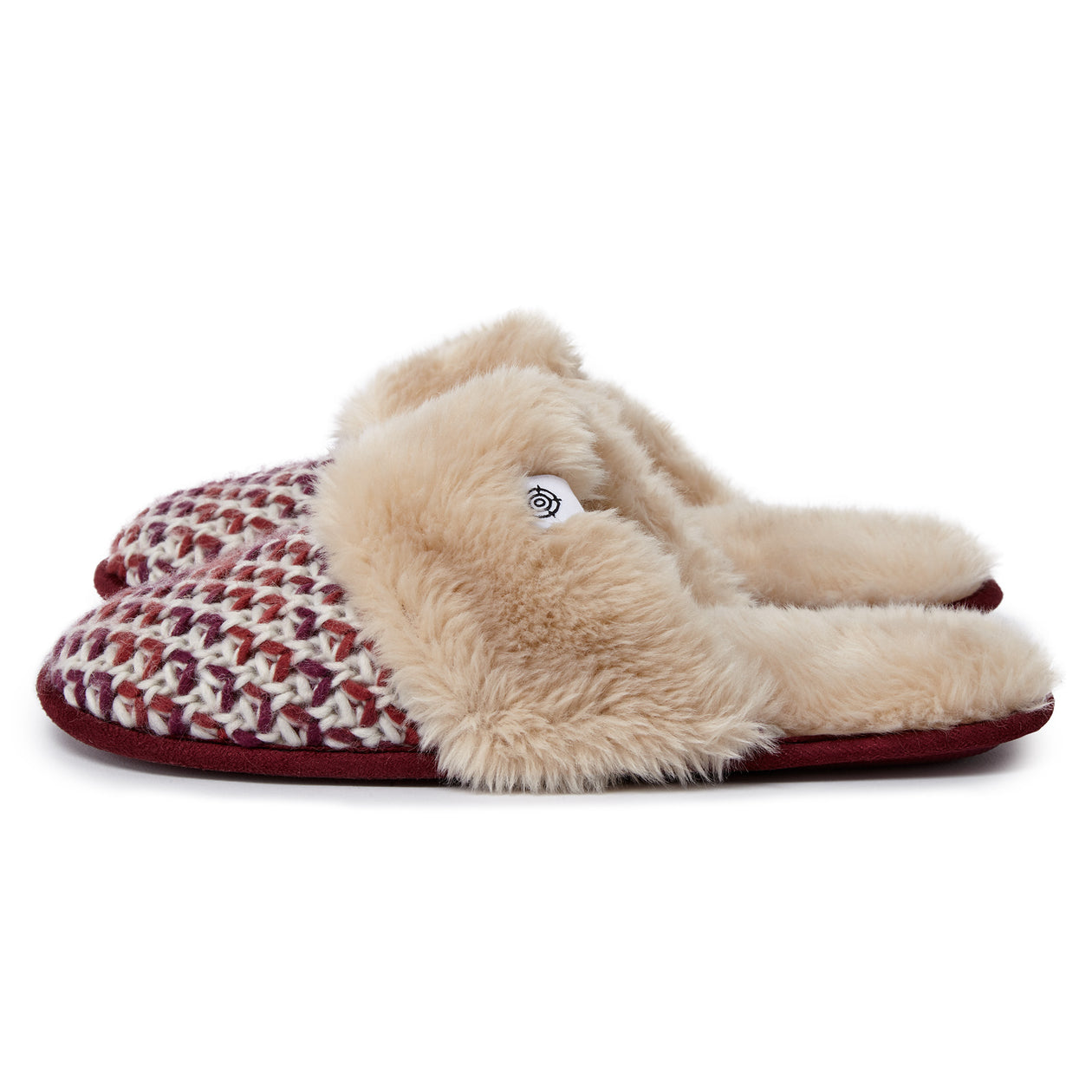 Tunnard Womens Knit Slipper - Deep Port image 4