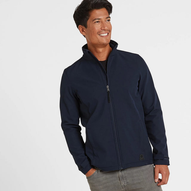 Valley Mens Softshell Jacket - Navy image 1