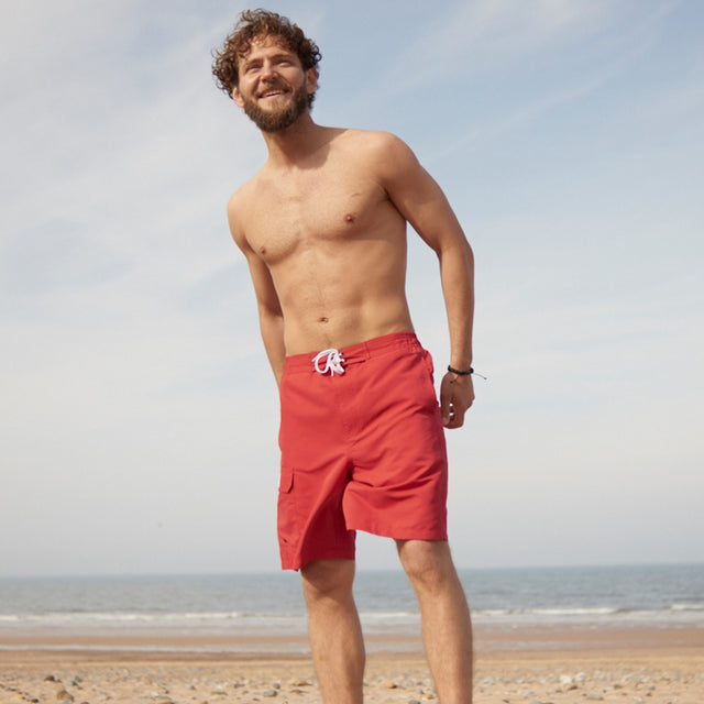 Helier Mens Swimshorts - Chilli image 5