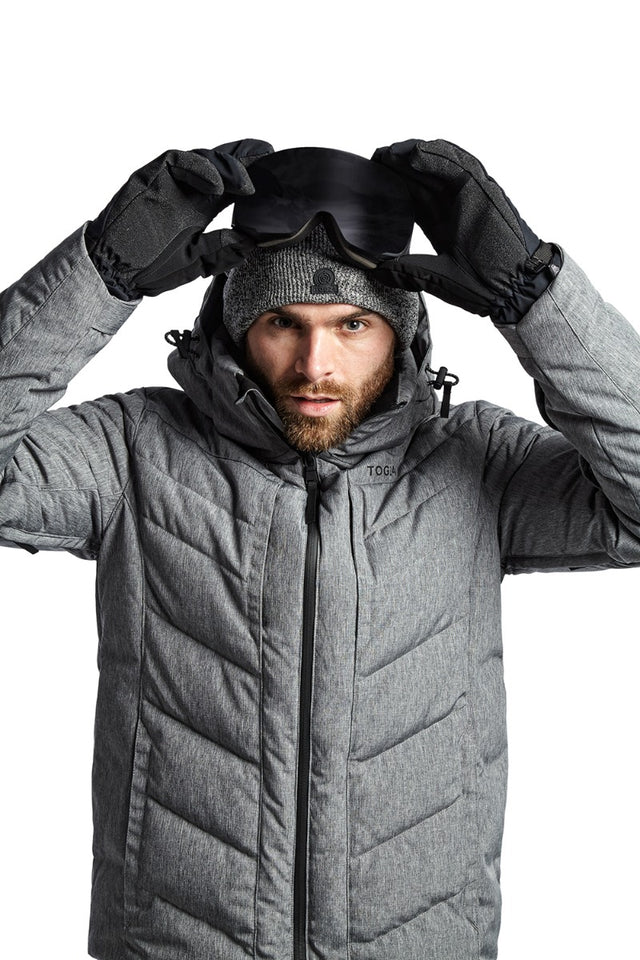 Scar Mens Down Insulated Ski Jacket - Grey Marl image 6
