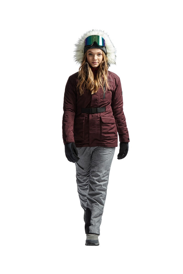 Magna Womens Insulated Ski Jacket - Deep Port Marl image 6