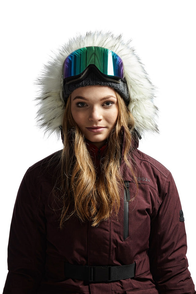 Magna Womens Insulated Ski Jacket - Deep Port Marl image 7