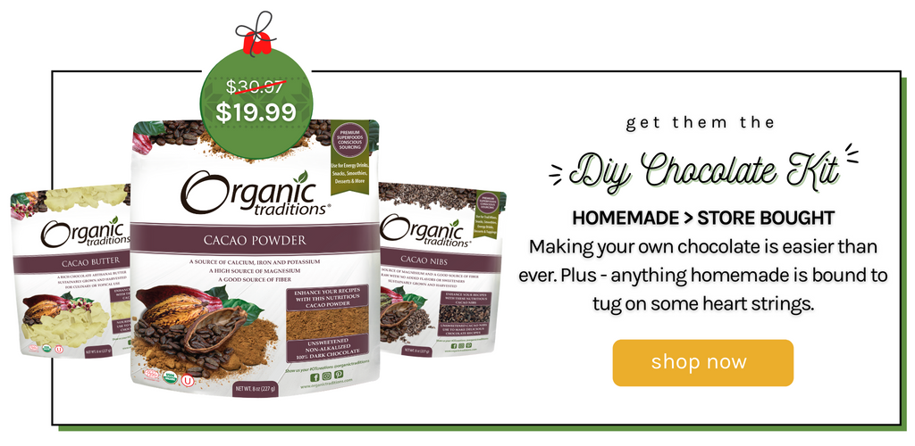organic traditions diy chocolate kit superfood bundle