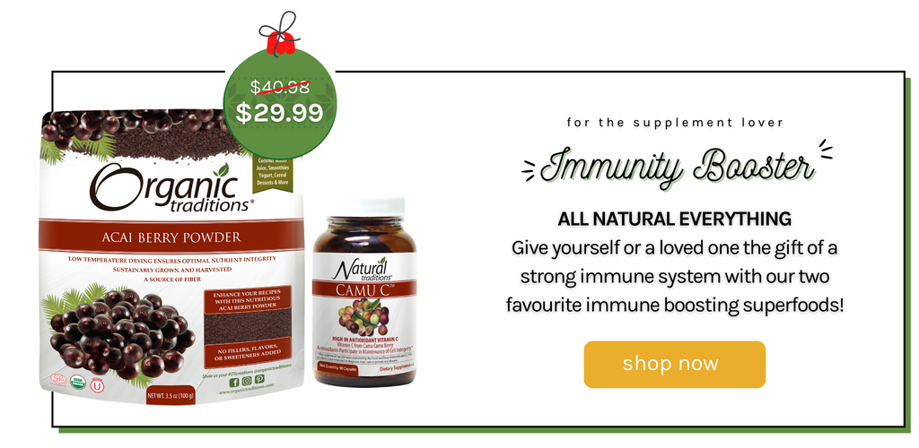 immunity bundle camu c caps and acai berry powder organic traditions bundle