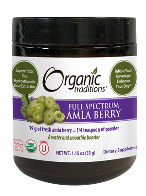 organic full spectrum dual extract amla by organic traditions front of jar image