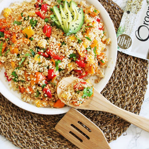 Sprouted Quinoa Summer Salad
