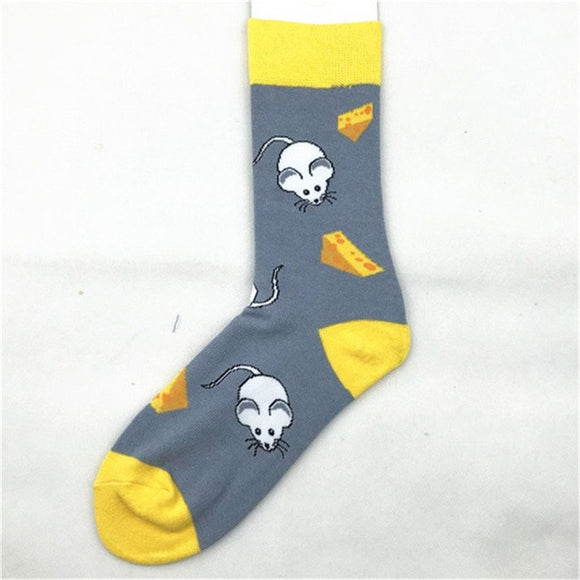 Mouse and Cheese Men's Socks