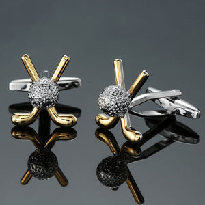 Gold Golf Cufflinks