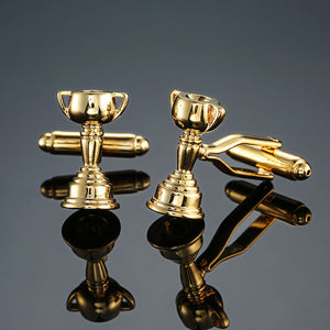 Gold Trophy Cufflinks