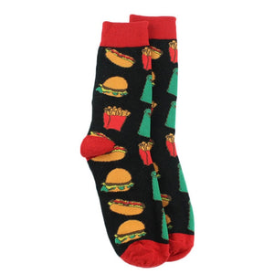 Black Fast Food Men's Socks