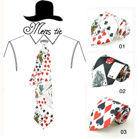 4 Inch Poker Playing Card Necktie
