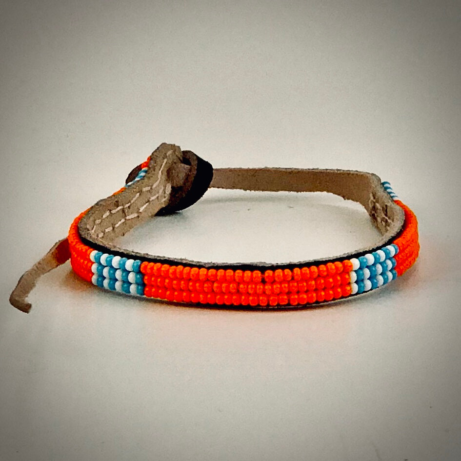 Armband orange and white/blue