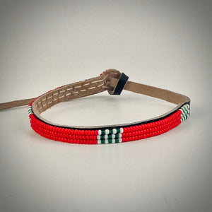 Armband red with white/dark green
