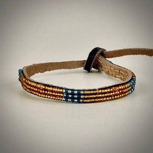 Armband gold with silver/fancy blue