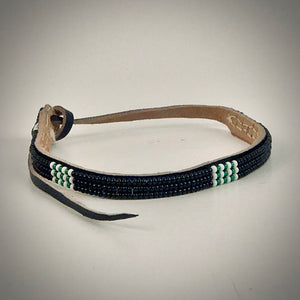 Armband black with white/metallic green