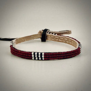 Armband brown with white/black